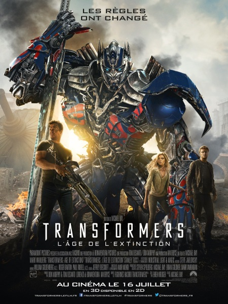 TRANSFORMERS L'AGE DE L'EXTINCTION - affiche officielle