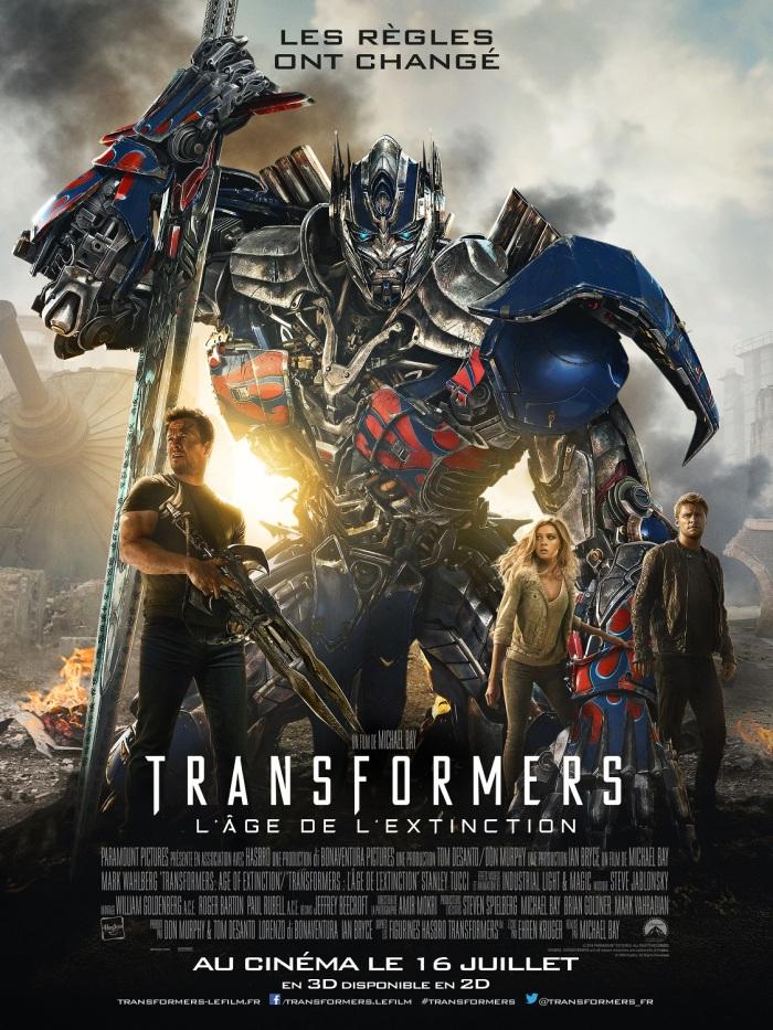 TRANSFORMERS L'AGE DE L'EXTINCTION - affiche officielle