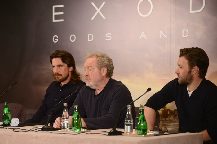 Ridley Scott, Christian Bale, Joel Edgerton